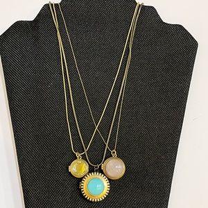 Juicy Couture Boho Triple Locket Multi Necklace
